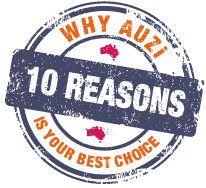 10 reasons why AUZi is your best choice