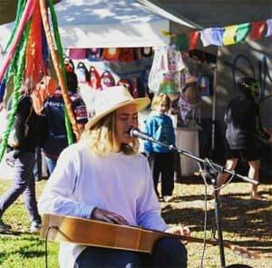 live music at a Brisbane market