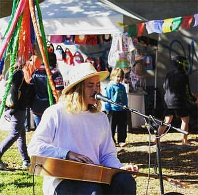 live music at a Brisbane market