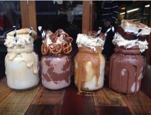 Four Loaded milkshakes