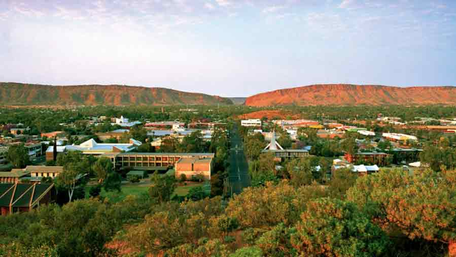Alice Springs at dusk