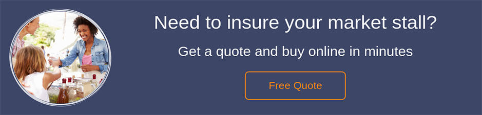 Market stall insurance quote button