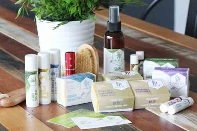 Marlie's Natural Care market stall