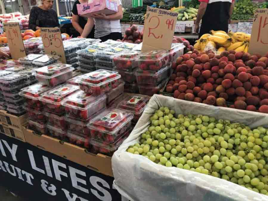 Fresh fruit market stall at Brisbane MarketPlace