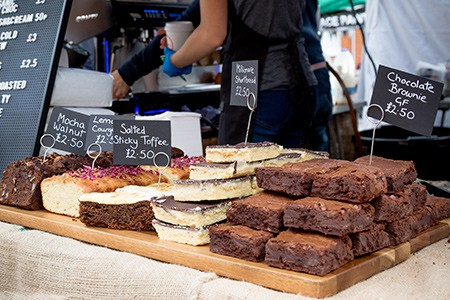 patisserie market stall in London