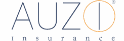 AUZi Insurance logo. Navy text and orange icon