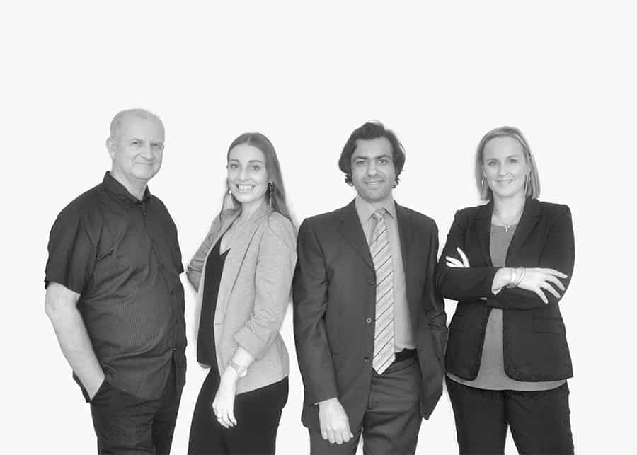 Black and White AUZi Insurance team photo