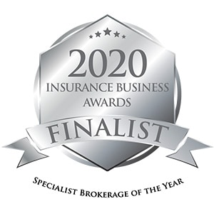 2020 Insurance Business Awards Finalist badge for Specialist Brokerage of the year - AUZi Insurance