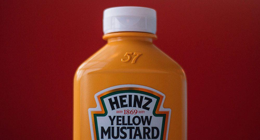 Heinz bottle of yellow mustard