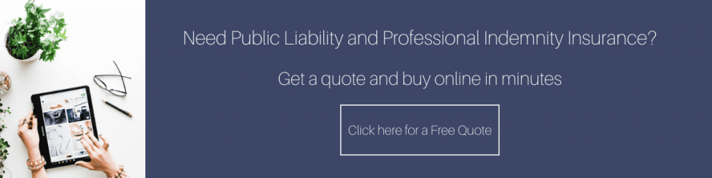 Public liability and professional indemnity insurance quote
