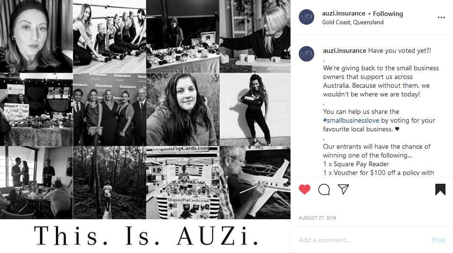 Collage of AUZi Insurance customers