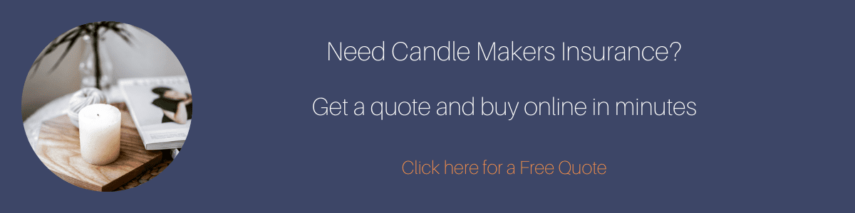 Click here for a free candle makers insurance quote button